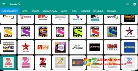 Skærmbillede Net TV Windows 10