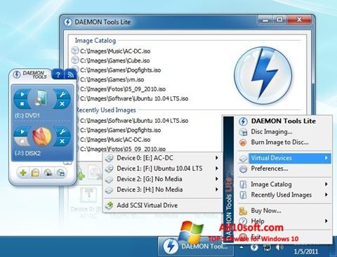 Skærmbillede DAEMON Tools Lite Windows 10