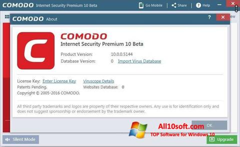 Skærmbillede Comodo Windows 10