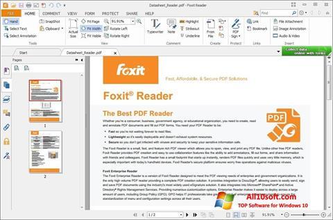 Skærmbillede Foxit Reader Windows 10