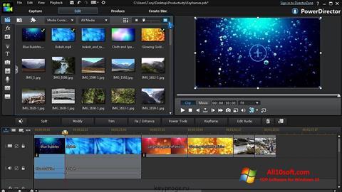 Skærmbillede CyberLink PowerDirector Windows 10