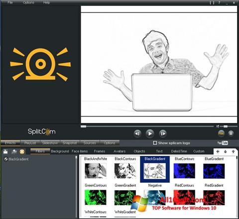 Skærmbillede SplitCam Windows 10