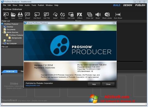 Skærmbillede ProShow Producer Windows 10