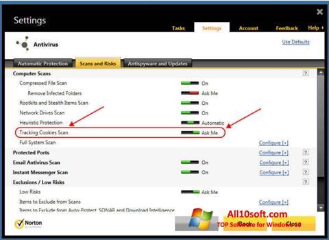 Skærmbillede Norton Windows 10