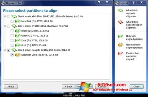Skærmbillede Paragon Alignment Tool Windows 10