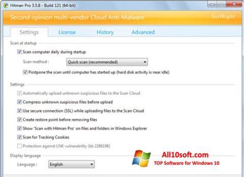 Skærmbillede HitmanPro Windows 10