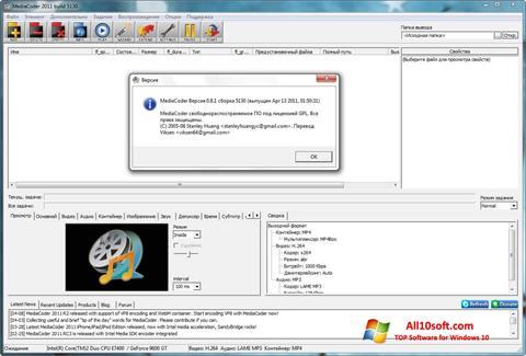 Skærmbillede MediaCoder Windows 10