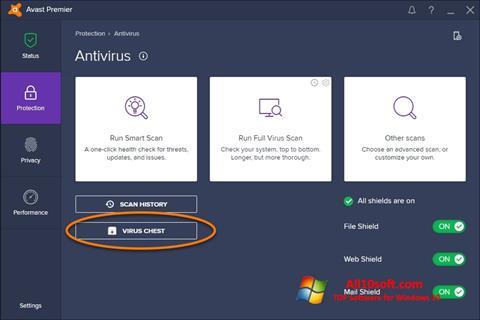 Skærmbillede Avast Windows 10