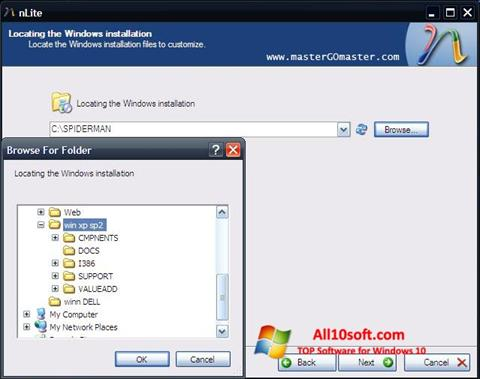 Skærmbillede nLite Windows 10