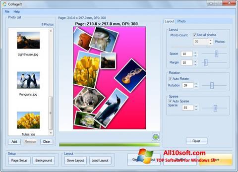 Skærmbillede CollageIt Windows 10