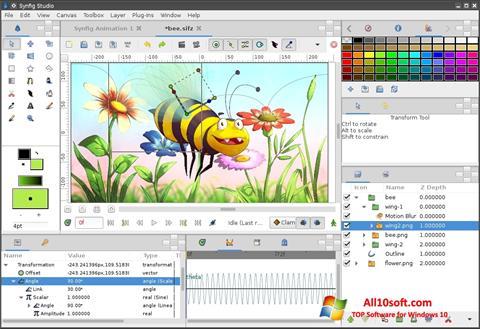 Skærmbillede Synfig Studio Windows 10