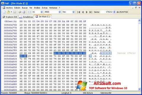 Skærmbillede HxD Hex Editor Windows 10