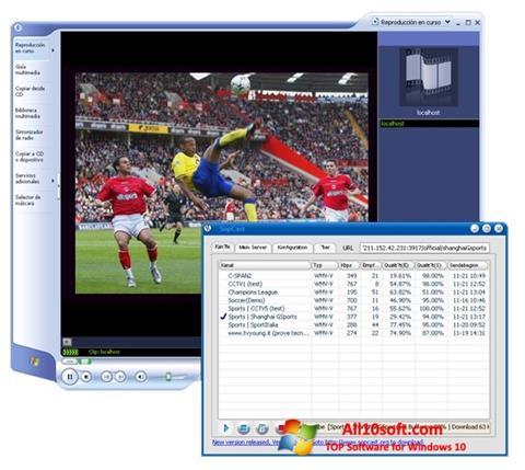Skærmbillede SopCast Windows 10