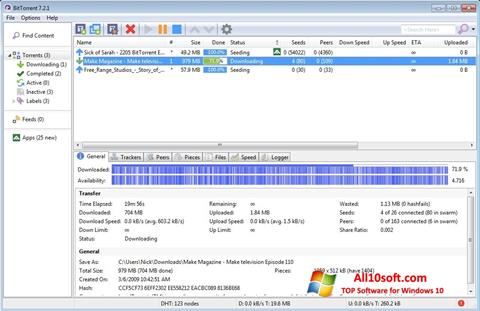 Skærmbillede BitTorrent Windows 10