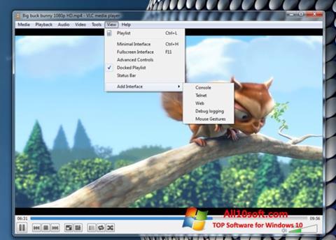 Skærmbillede VLC Media Player Windows 10