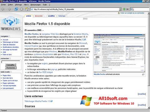 Skærmbillede Mozilla Firefox Windows 10