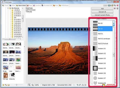 Skærmbillede PhotoScape Windows 10
