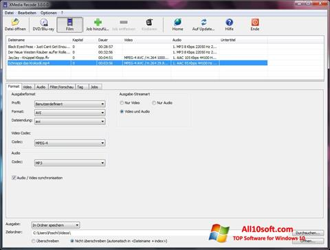 Skærmbillede XMedia Recode Windows 10
