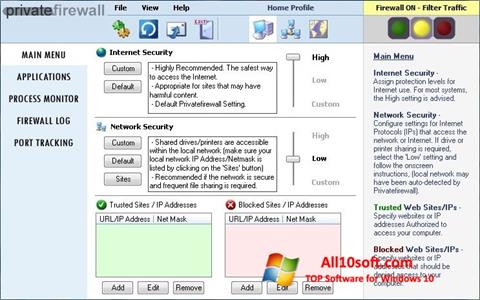 Skærmbillede Privatefirewall Windows 10