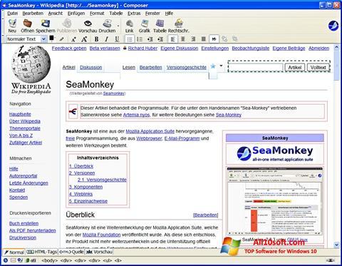 Skærmbillede SeaMonkey Windows 10