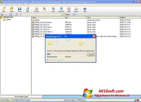 Skærmbillede PowerISO Windows 10