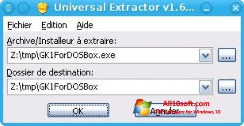 Skærmbillede Universal Extractor Windows 10