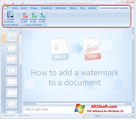 Skærmbillede Microsoft PowerPoint Windows 10