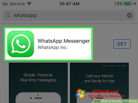 Skærmbillede WhatsApp Windows 10