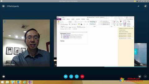Skærmbillede Skype for Business Windows 10