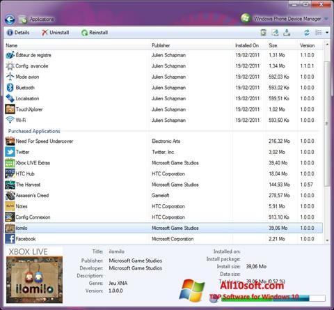 Skærmbillede Windows Phone Device Manager Windows 10