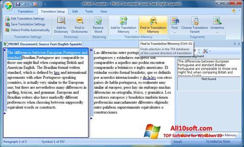 Skærmbillede PROMT Windows 10