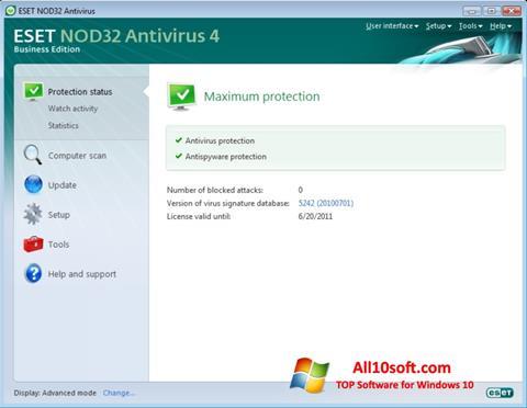 Skærmbillede ESET NOD32 Windows 10