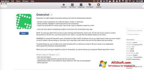 Skærmbillede Greenshot Windows 10