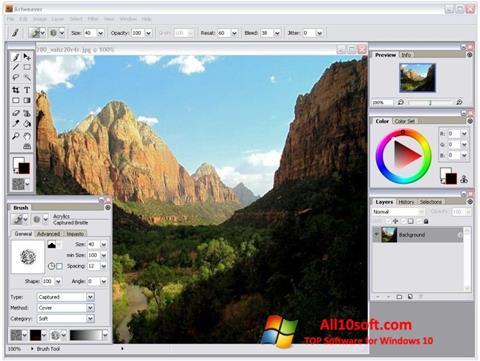 Skærmbillede Artweaver Windows 10