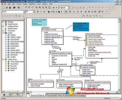 Skærmbillede ERWin Windows 10