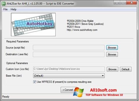 Skærmbillede AutoHotkey Windows 10