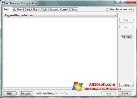 Skærmbillede Ad Muncher Windows 10