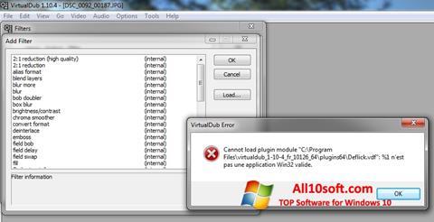 Skærmbillede VirtualDub Windows 10