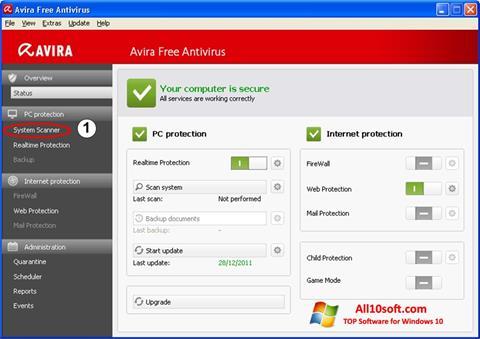 Skærmbillede Avira Windows 10